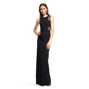 NWT Aidan Mattox Floor Length Black Gown